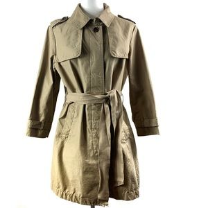 Gap Tan Belted Trench Coat Sz L
